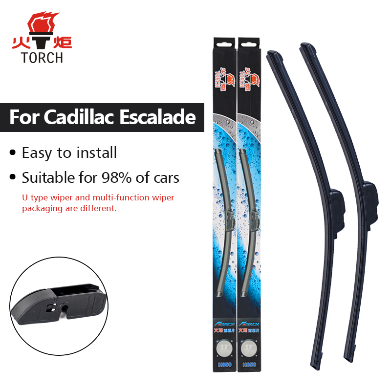 TORCH Wiper Blades for Cadillac Escalade 22&22 Fit Pinch Tab Arms 2007 2008 2009 2010 2011 2012 2013 2014