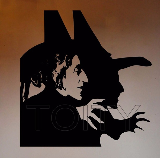 Wizard of Oz Wall Vinyl Decal Wicked Witch of the West Sticker Cartoons Home Interior Bedroom & Wizard of Oz Wall Vinyl Decal Wicked Witch of the West Sticker ...