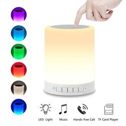 Portable Night Light Bluetooth Speaker Lamp Smart Touch Control Premium LED Light For Bedside Bedroom Lounge Wireless Speaker