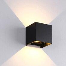 Открытый водонепроницаемый 12 Вт IP65 Настенный светильник современный светодиодный настенный светильник для помещений бра декоративный светильник на крыльце садовый светильник s настенные лампы