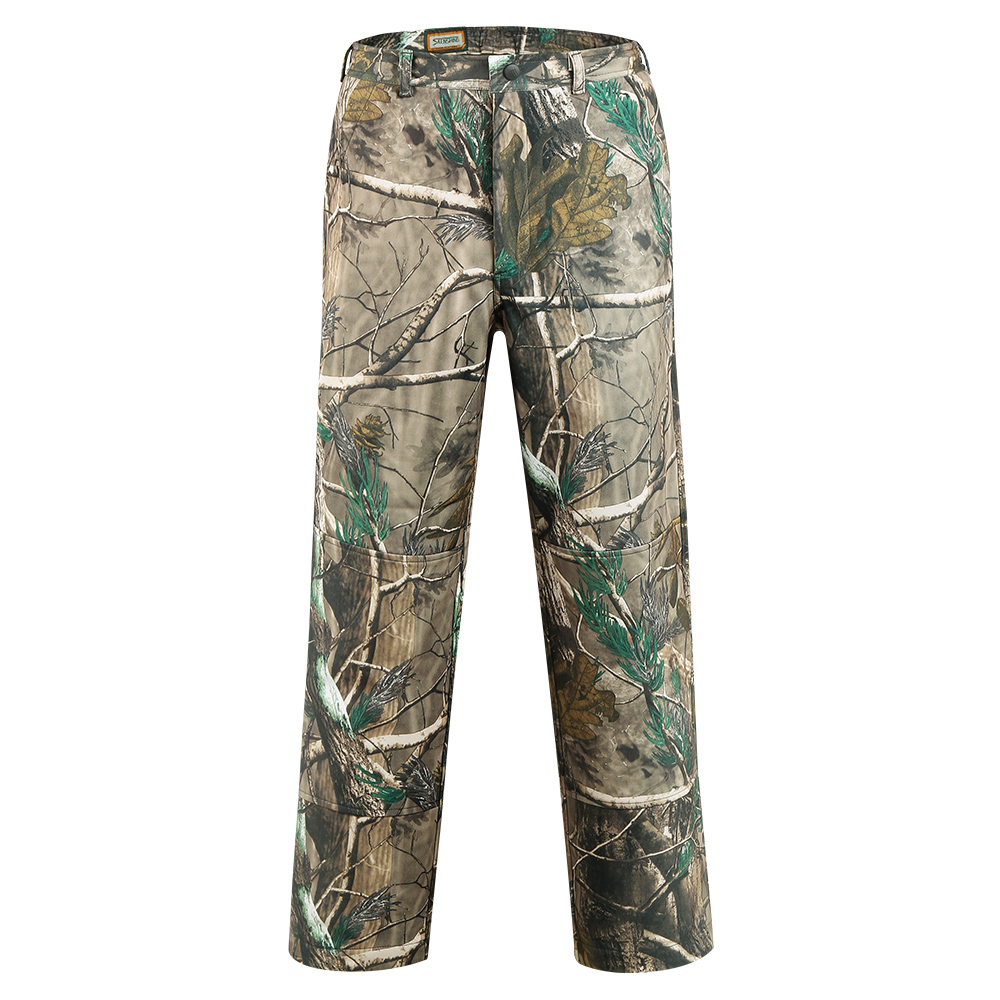SAENSHING Waterproof Hunting Pants Men Softshell Camouflage Tactical Trousers Male Fleece Soft Shell Outdoor Camo Fishing Pants-in Hunting Pants from Sports & Entertainment    1