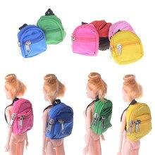 51e07a9f8308e 1 pc Śliczne Zipper Płócienny plecak Dla Lalek Mody Mini Monety Torba Lalka  Odzież Dress Up
