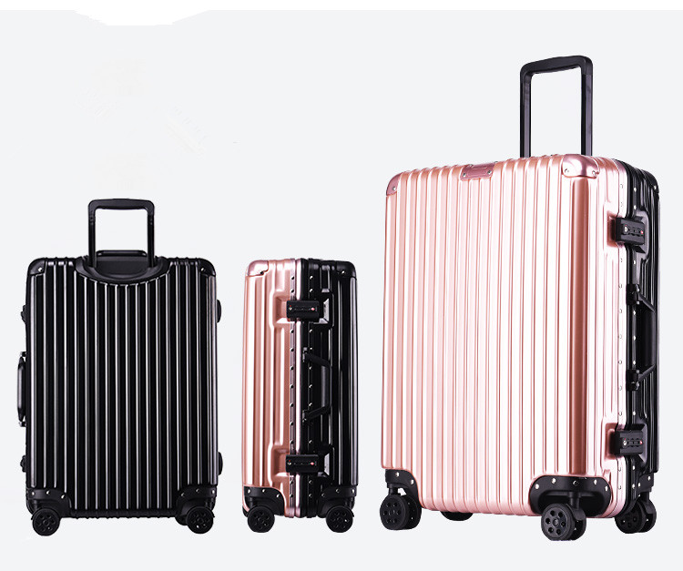 20/22/24/26/28 inch bump color double color aluminum frame stick box universal wheel luggage suitcase card board box male suitca