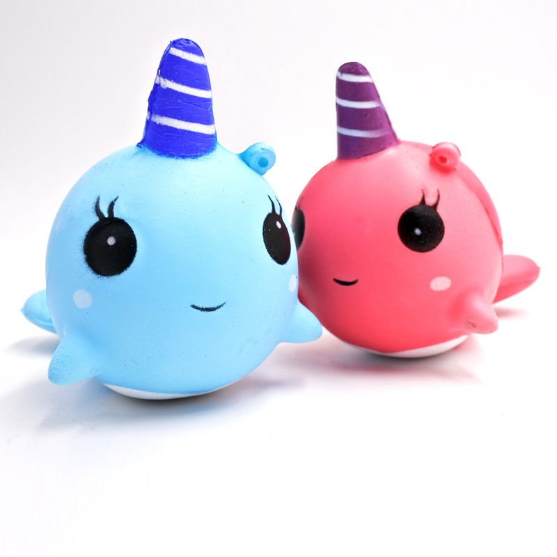 Kawaii Squishy Unicorn Whale Animal Squishy Cute Bread Cake Scented Slow Rising Soft Squeeze Toy Fun For Kid Gift