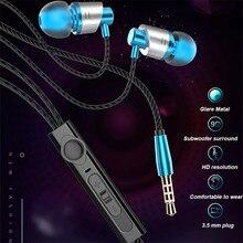Bass Earpieces 9D In ear Earphone Metal Wired Headset Hifi Earbuds for Samsung Huawei Xiaomi Phone Ear Phones fone de ouvido