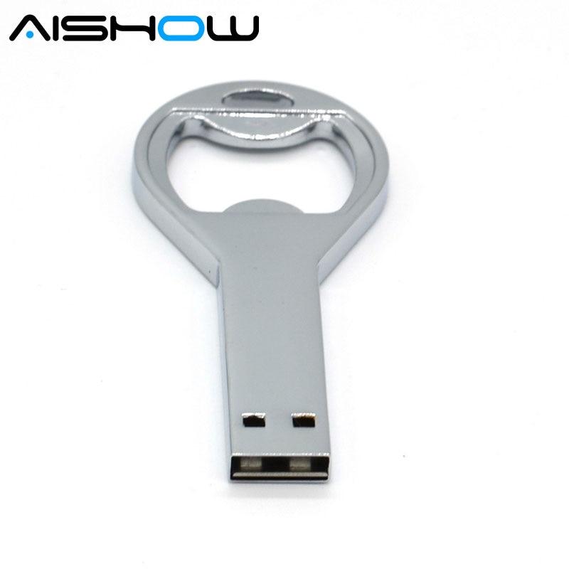Hot Gifts USB Flash Drives bottle opener thumb pendrive 4gb 8gb 16gb 32gb originality memory stick U disk wholesale