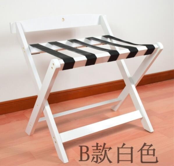 Многоцелевой твердой древесины складной гостиничная багажная полка багажная вешалка для хранения домашнего товара Полка багаж - Цвет: white