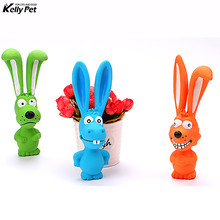 Hot Cute Toy for Pet Dogs Puppy Screaming Rubber Rabbit Latex Squeaker Chew Training Tools Products Pets Toys
