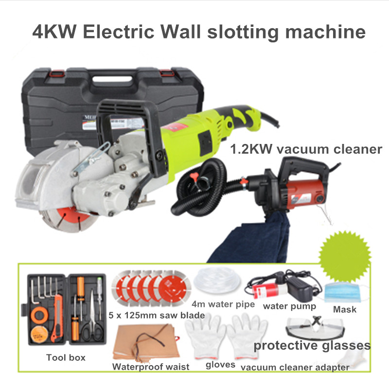 Electric Wall Chaser Groove Cutting Machine Wall slotting machine Steel Concrete cutting machine 4KW 40MM 1