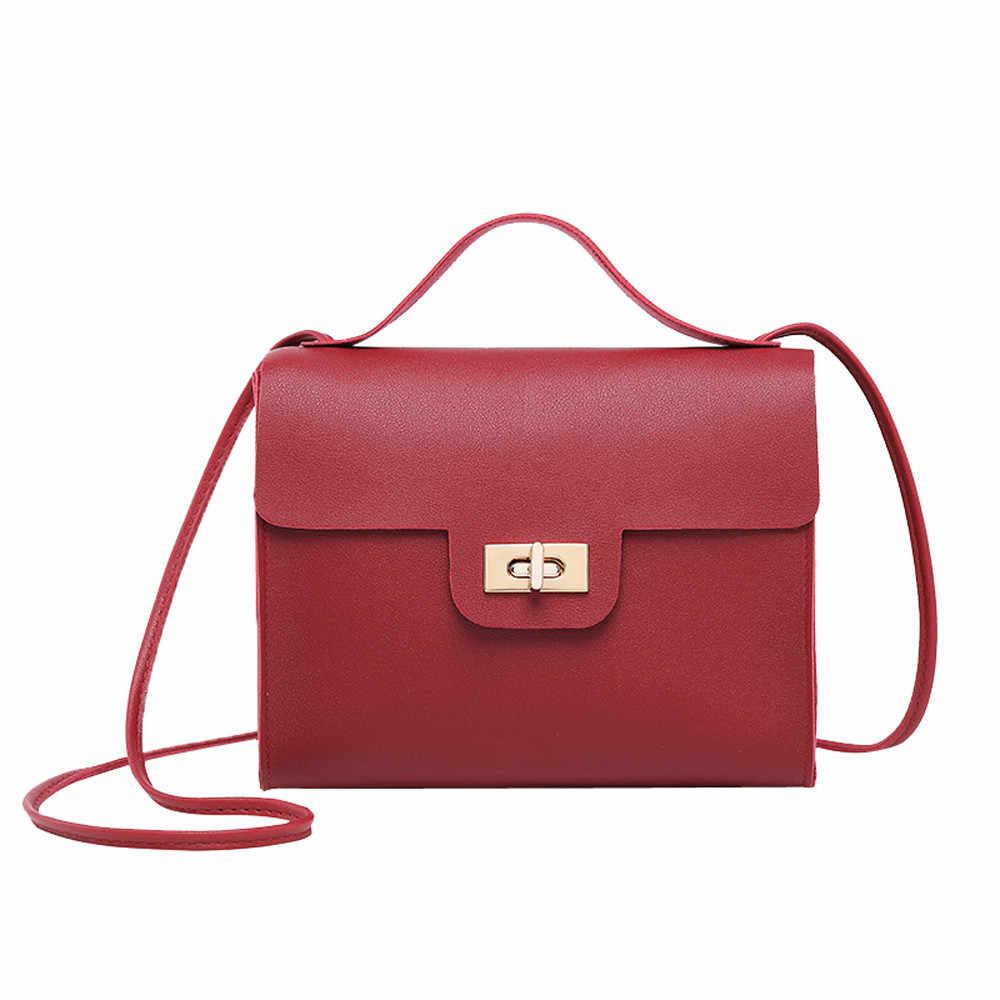 da2a2fd3aff5 Сумки на плечо для женщин девочек 2019 Модные Винтажные женские сумки  однотонная Повседневная сумка для покупок