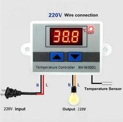 Микрокомпьютерный термостат с цифровым контролем температуры, 12/24/220 в, переключатель, термометр, новый терморегулятор, лучшее качество