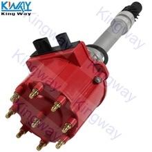 King Way-красная крышка HEI зажигание дистрибьютор 1103952 для 87-95 Chevrolet Pontiac GMC 5.0L 5.7L 7.4L