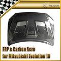 Автомобильный Стайлинг для Mitsubishi Evolution EVO 10 углеродное волокно VRS система 1 Стиль Капот глянцевое волокно Engien покрытие гоночный авто комплек...