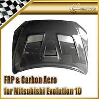 Auto styling Voor Mitsubishi Evolution EVO 10 Carbon VRS Systeem 1 Stijl Kap Glossy Fibre Engien Cover Racing Auto Body Kit-in Afzuigkappen van Auto´s & Motoren op