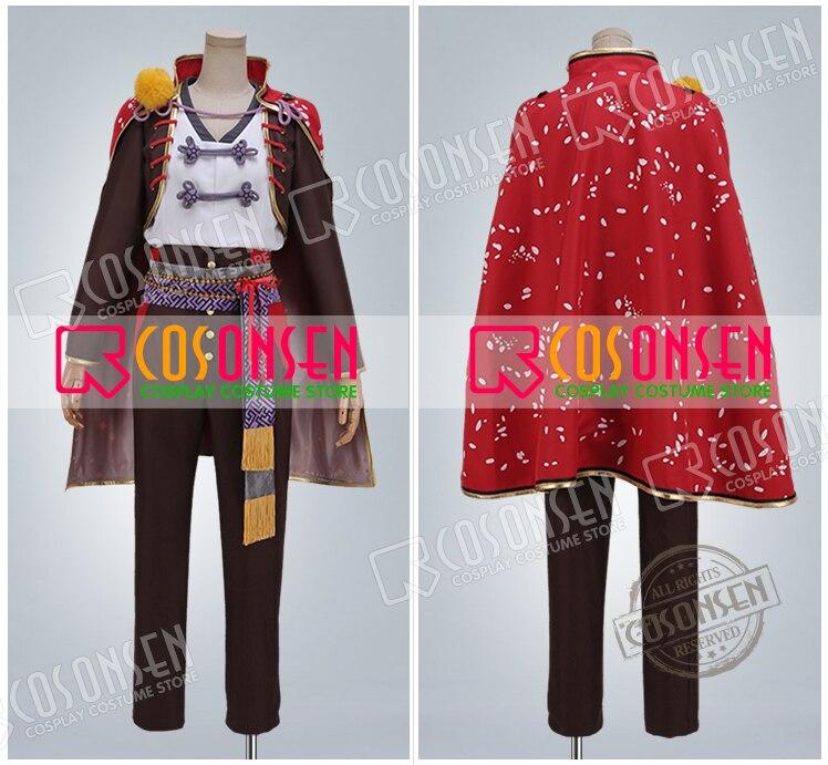 Cosonsen The Ensemble Stars AKATSUKI Kiryu Kuro Red Moon Cosplay Costume