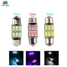 цена на 20pcs 12V 1.8W 31mm Canbus 5630 6 SMD LED Festoon Bulbs Dome Reading Light White Blue Red Green Pink Ice Blue Free Shipping