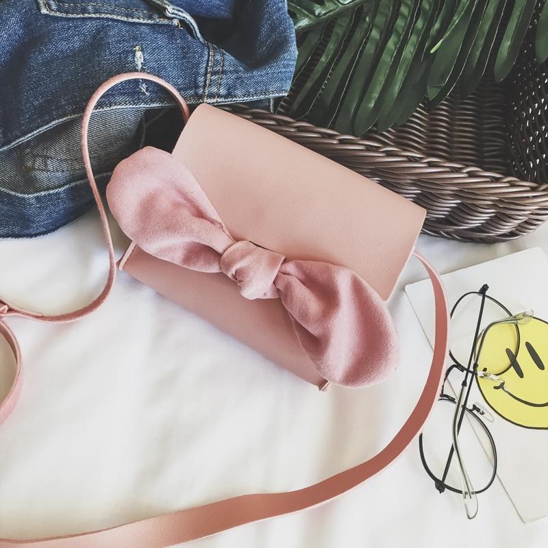 PU leather mini bow children coin purse wallet kids mini crossbody money pouch bag bolso mujer bolsa carteira feminina for girls