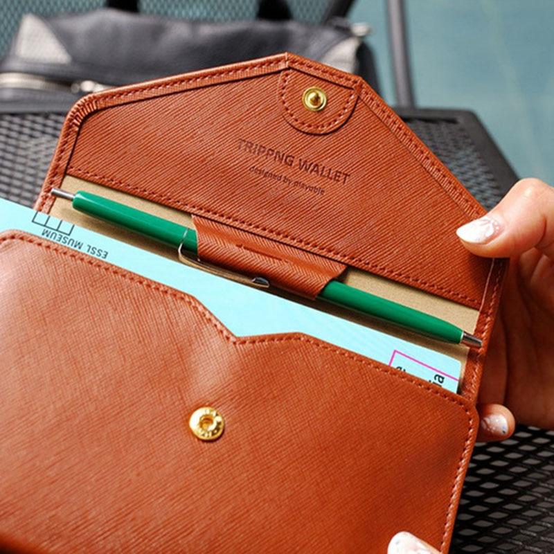 Travel Passport Cover Foldable Credit Card Holder Money Wallet ID Multifunction Documents Flight Bit License Purse Bag PC0045 (10)