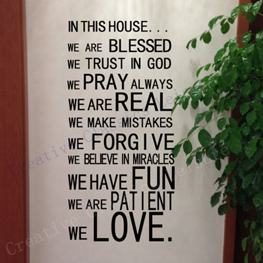 Psalms wall decals christian wall decals ine walls - Free Shipping God Wall Stickers Christian Wall Art Home Decor God Blessed Prayer Wall Decals