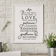 Fruit Of The Spirit Christian Canvas Art Print Poster Wall Picture , Love Joy Peace Wall Art Canvas Painting Home Decor(China)