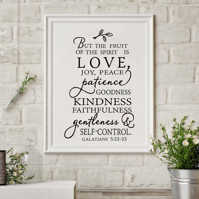 Fruit Of The Spirit Christian Canvas Art Print Poster Wall Picture , Love  Joy Peace Wall
