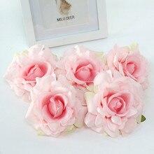 Flone, 11 см, сделай сам, высокое качество, искусственные цветы розы, голова, искусственный цветок, Шелковый цветок для свадьбы, декоративные, вечерние, художественные, цветочные