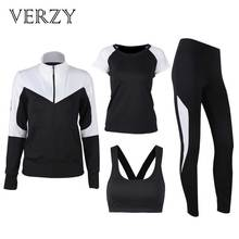 Solid Black and White Yoga Set Women Plus Large Size Hoodie+Bra+T-shirt+Leggings Running Gym Fitness Sports Suit