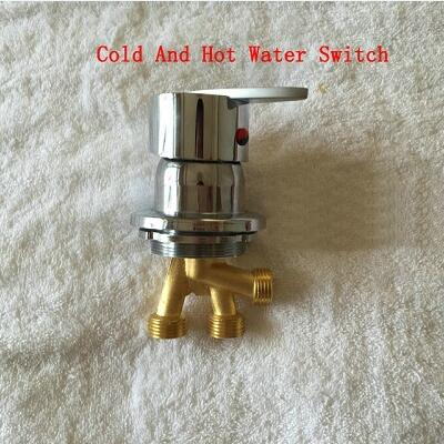 Massage bathtub faucet accessories for cold and hot water switch, 2 Types brass conversion water separator of shower