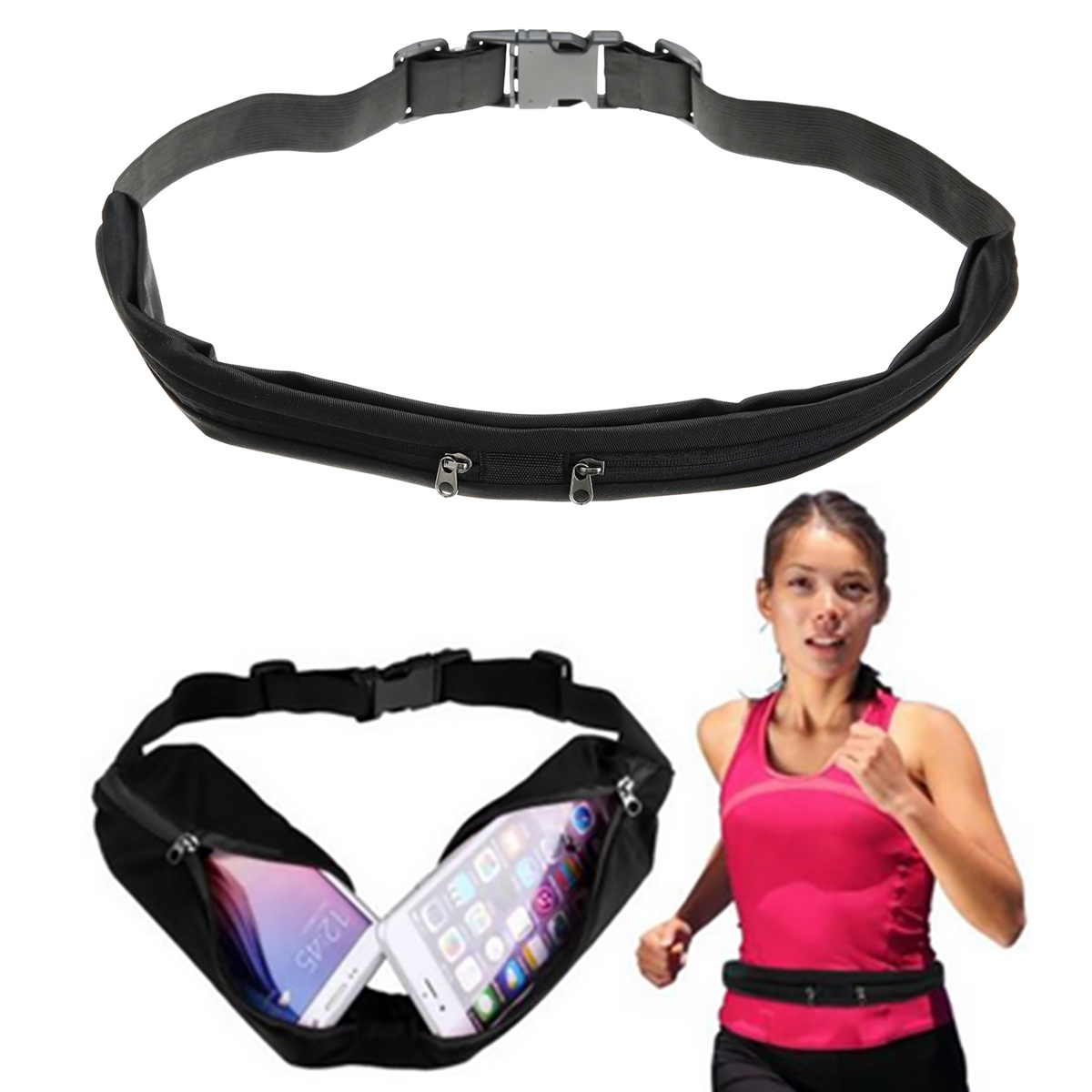 New Outdoor Running Waist Bag Waterproof Mobile Phone Holder Jogging Belt Belly Bag Women Gym Fitness Bag Lady Sport Accessories 21