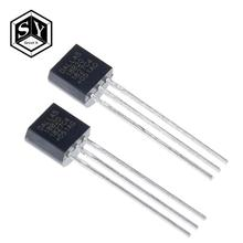 100 adet/grup sensörü elektronik çip DS18B20 TO 92 18B20 cips sıcaklık sensörü IC 18b20 diy elektronik