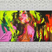 Palette knife portrait Face Oil painting Character figure canvas Hand painted Francoise Nielly wall Art picture 510