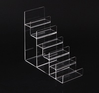 Wholesale 2pcs Clear Acrylic Wallet Purse Mobile Phone Dispaly Stand Card Holder Rack 6 Layers High