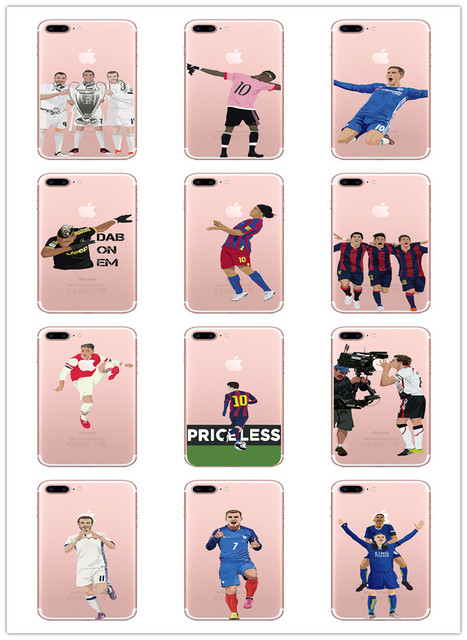 buy online f5351 934b7 US $1.98  C Luo Messi Neymar Cristiano Ronaldo Barcelona world Cup Football  star Jersey case for iphone 6S 7 Plus 5S X 10 Phone bags PY05-in Fitted ...