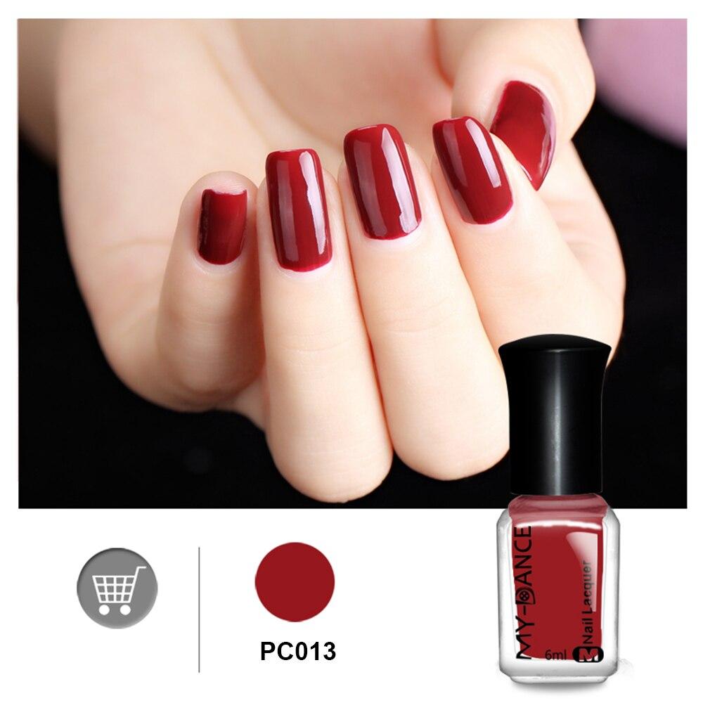 MYDANCE 1PC Nail Polish 6ML Cherry Red Color Fashion Nail Art Polish ...