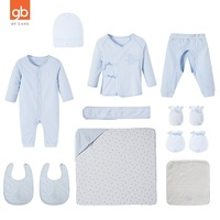 Goodbaby 12 Pieces Newborn Cotton Clothes Suits Baby Full Moon Gift Box Hat Kerchief Glove Foot Sleeve Jumpsuit Pants Lace Top