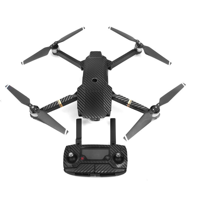 Buy 1 set Black Waterproof Carbon Decal Sticker Skin Wrap Skin for DJI Mavic Pro Drone for only 12.36 USD