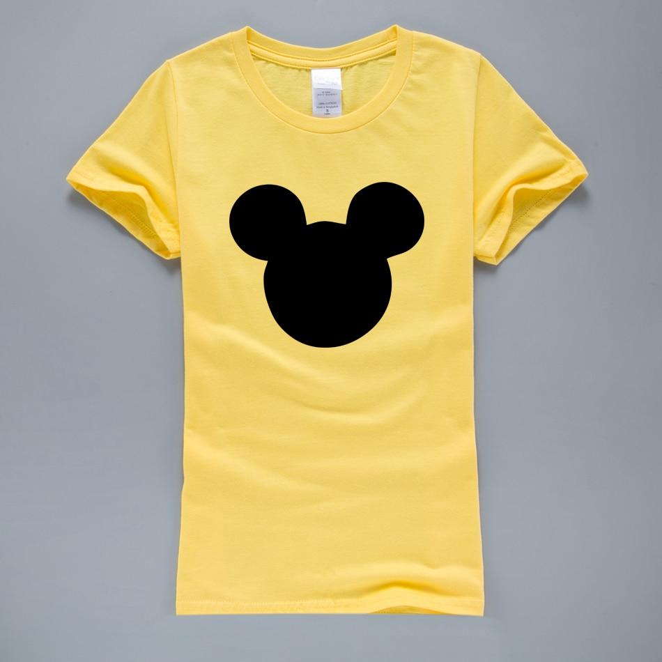 HTB1TYLDQVXXXXa8apXXq6xXFXXXY - 2017 New Summer Mouse Head Printed Women T-Shirt
