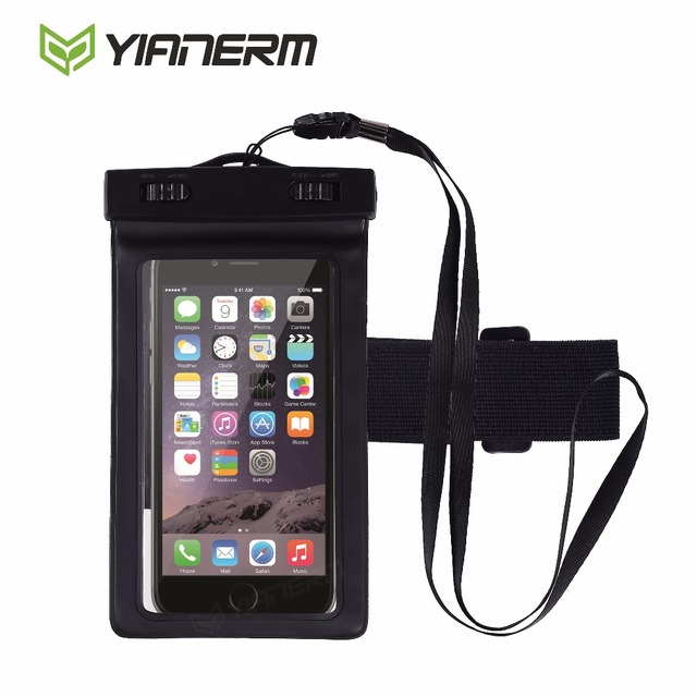 cheap for discount 6c9d2 c52e9 US $4.16 |Yianerm Waterproof Pouch Touch Screen Case Swimming Diving Phone  Bag For iPhone 6s 6Plus Samsung S7 S6 Edge up to 5.5