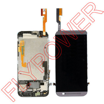 Подробнее о 100% Warranty For HTC One M8 LCD Display With Touch Screen Digitizer frame Asembly Replacement Black by free shipping black white color for htc one m8 1pc lot lcd display touch screen digitizer with frame replacement free shipping