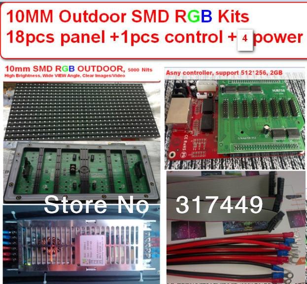 p10 RGB SMD 3 IN 1 outdoor 18 PCS, 18 PCS high brightness smd kits, 4 pcs 5v 40a power, 1 pcs controller, free shipping fedexp10 RGB SMD 3 IN 1 outdoor 18 PCS, 18 PCS high brightness smd kits, 4 pcs 5v 40a power, 1 pcs controller, free shipping fedex