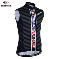 SIILENYOND 2018 Summer Sleeveless Cycling Vests Breathable MTB Bicycle Clothing Bike Jerseys Maillot Ropa Ciclismo Wear