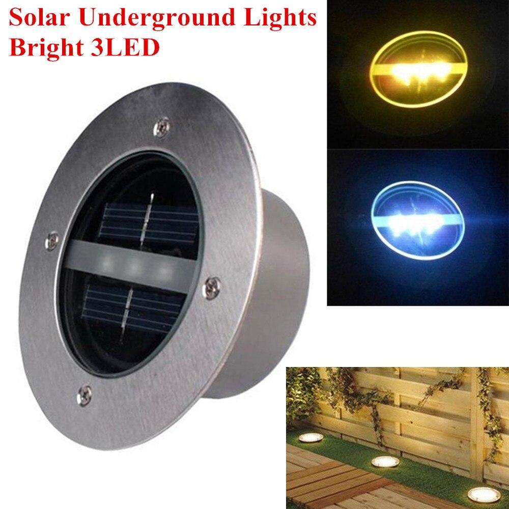 super bright 3led outdoor solar buried led lamps ground. Black Bedroom Furniture Sets. Home Design Ideas