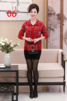 Mother's jacket 50 60 years old short middle aged women's sweater cardigan thick middle aged women's sweater