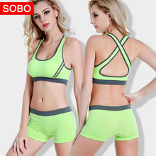 Women Sports Sets Breathable Seamless Yoga Bras Stretch Shorts Running Fitness Sportswear Gym Workout Women's sports suit
