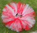 christmas costumes tutu skirt Girls holiday skirt  Fluffy tutu skirt red with white tutu santa tutu skirt New years wear