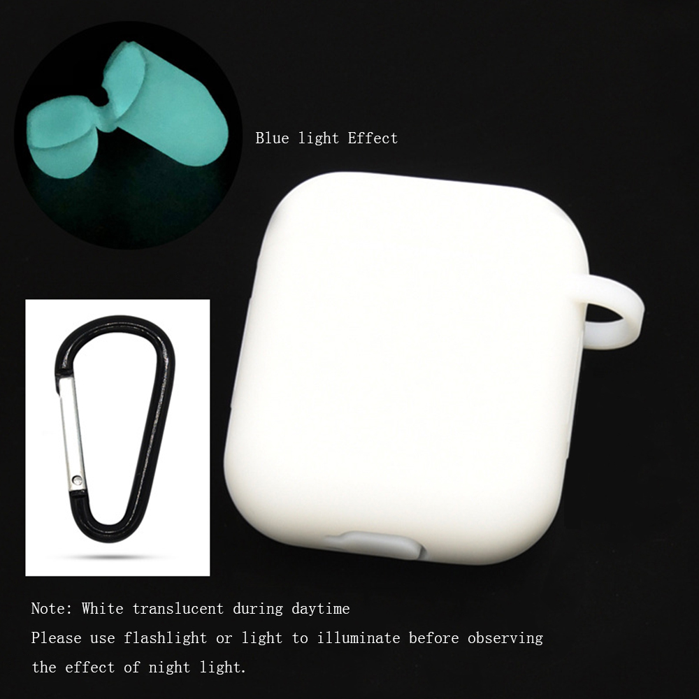 TPU Soft Silicone Protective AirPods case Noctilucent For i100 i90 Wireless Bluetooth Earphone Suit Cover Accessories Dustproof