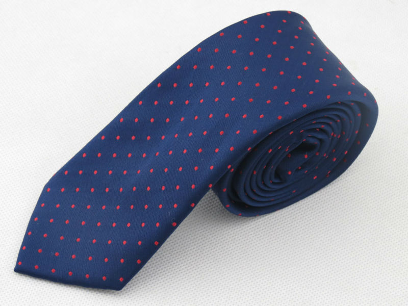 free shipping Man navy necktie/polyester/red dot pattern/Han edition style/mens fashion leisure narrow tie