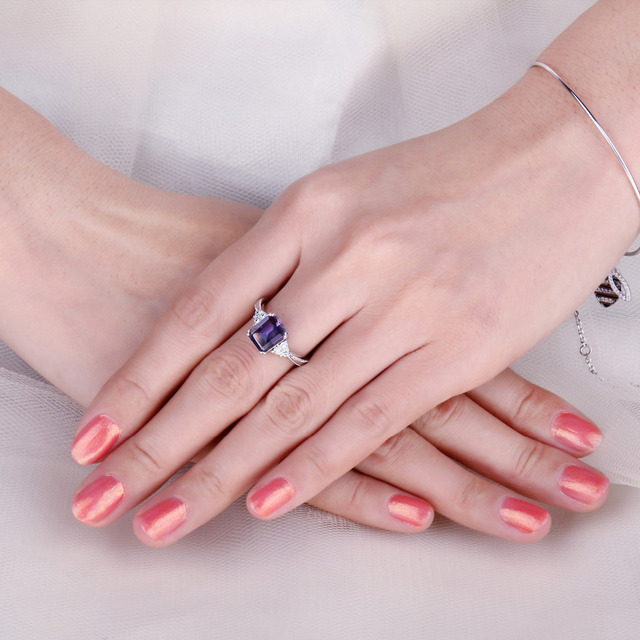 Radiant Alexandrite Ring
