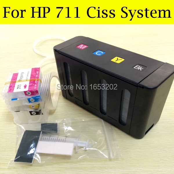 Free Post !! 711 Ciss Continuous Ink Supply System For HP T120 T520 With Empty Ink Cartridge For HP 711 einkshop ciss for hp 711 for hp t120 t520 continuous ink supply system for hp designjet t120 t520 printer with auto reset chip