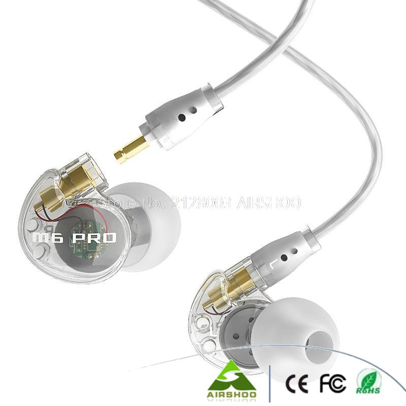 ФОТО 2016 New Arrival M6 PRO - CL ME Electronics Wired Earphone Universal Noise Cancelling Music Stereo In-ear Earbud Monitors